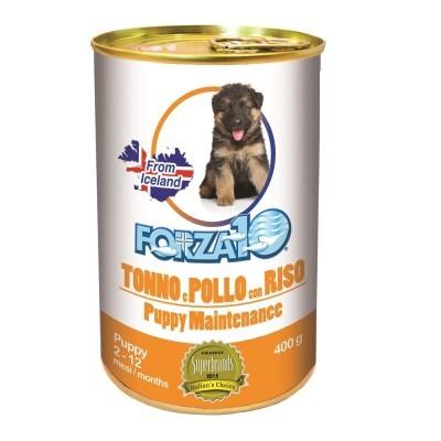 Forza10 Maintenance Puppy pasztet z tuńczykiem, kurczakiem i ryżem