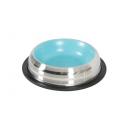 Metalowa antypoślizgowa miska z niebieskim wnętrzem