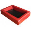 Legowisko MODERN z czerwono-czarnej eco skóry
