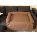 Legowisko na kanapę - jasno brązowy jeans