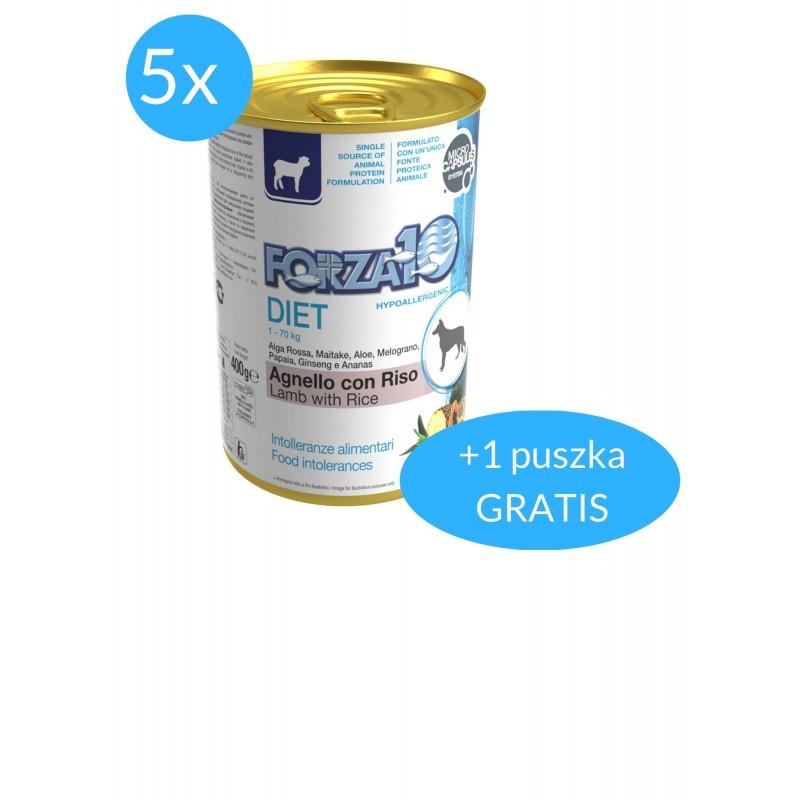Forza10 Diet dla psa 5x400g + 400g GRATIS (2,4kg)